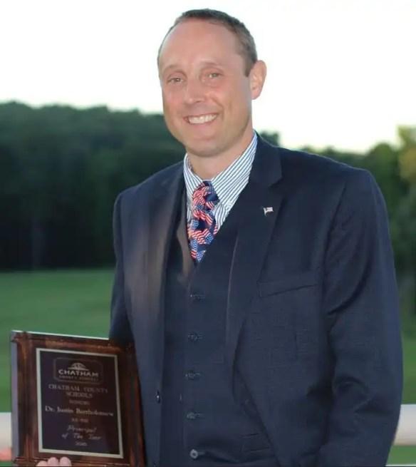 Chatham County Schools Principal of the Year, Justin Bartholomew
