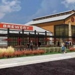 Artist's rendering of proposed brewery to be located in the commercial area of Chatham Park.