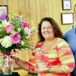 Catherine Moore and Tony Messer, Chief Operations Officer for Chatham County Schools