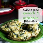 Twice-Baked Spinach and Artichoke Potatoes