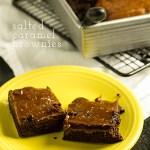 Caramel Brownies with Flaky Sea Salt