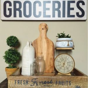 Head over heels for this grocery sign from the Etsyhellip