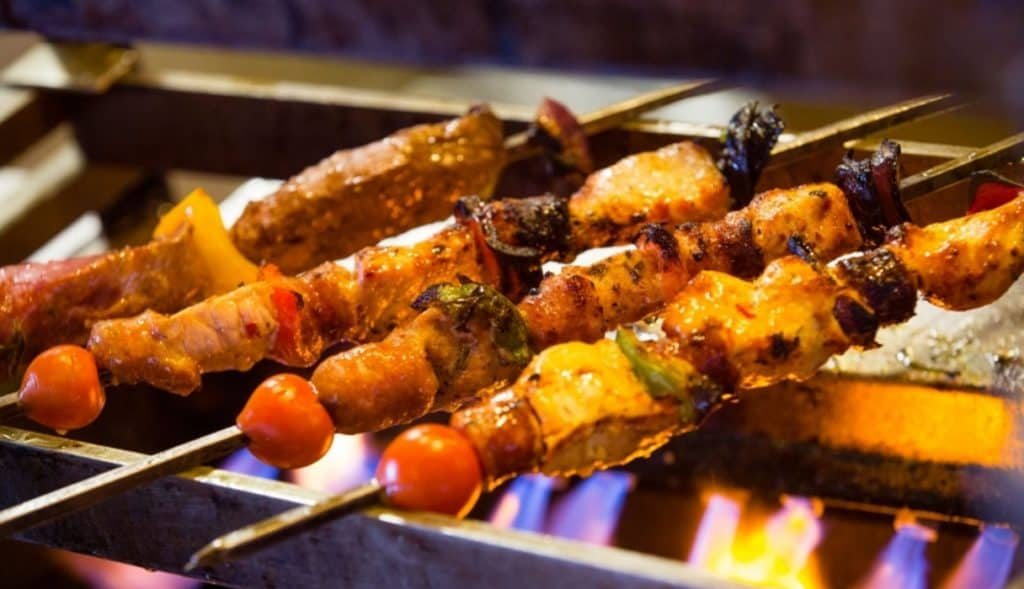 coal and gril bar skewers