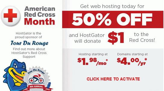 HostGator 50 Percent OFF