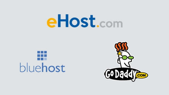 ehost vs bluehost vs godaddy