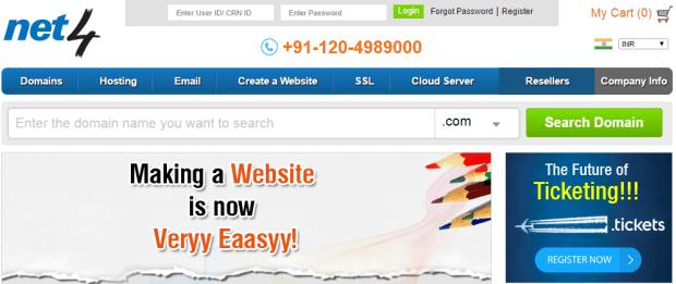 NET4 India Web Hosting