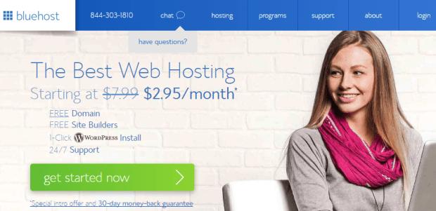 Bluehost as a godaddy linux hosting alternative