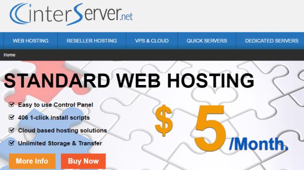 Interserver as an alternative to Godaddy windows hosting services