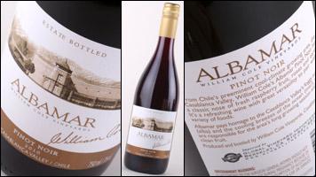 William Cole Albamar Pinot Noir