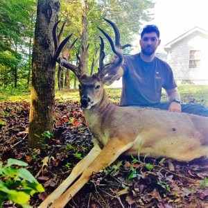 Matt Carringan, Special Education/Life-Skills Teacher and Assistant Baseball and Football Coach at Sycamore High School, scored a 19-Point Buck using a Mission Ballistic Bow on Sunday, September 18, 2016, in Fort Campbell. -Photo submitted (upon request and used with permission) by Matt Carringan