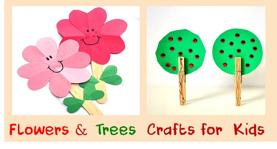 Flowers and Tress Crafts for kids