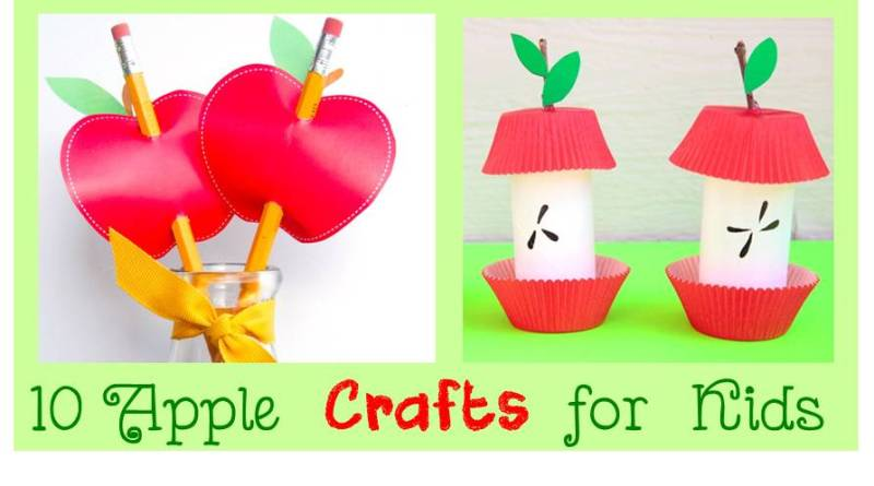 10 Apple Kids Crafts