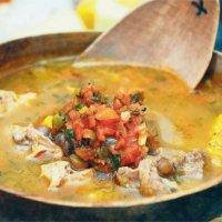 Sancocho de guandu receta típica de Barranquilla Colombia