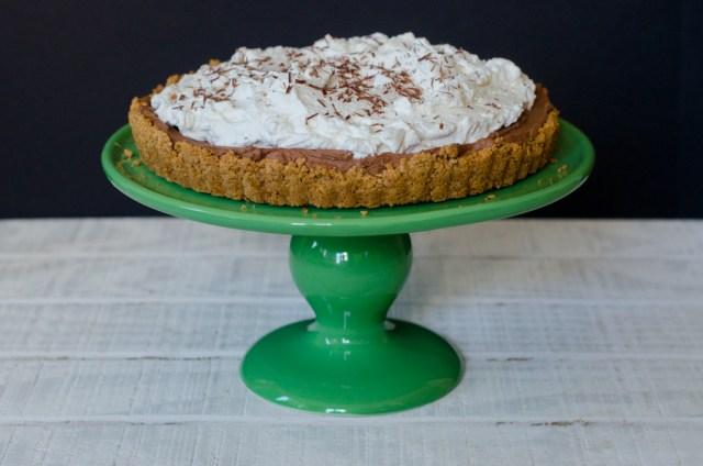 Dark Chocolate Silk Pie recipe from ChefSarahElizabeth.com