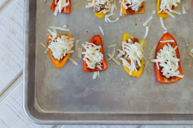 Mini Bell Pepper Pizza from ChefSarahElizabeth.com