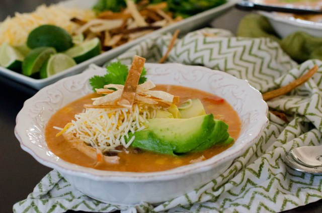 Chicken Tortilla Soup recipe from ChefSarahElizabeth.com