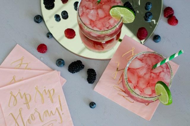Very Berry Margaritas recipe from ChefSarahElizabeth.com