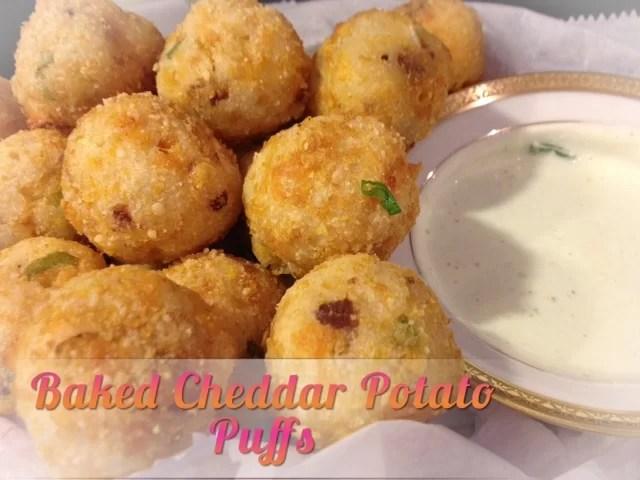 Baked Cheddar Puffs   Cheftini