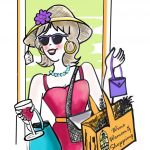 Wine Women Shopping Logo-color