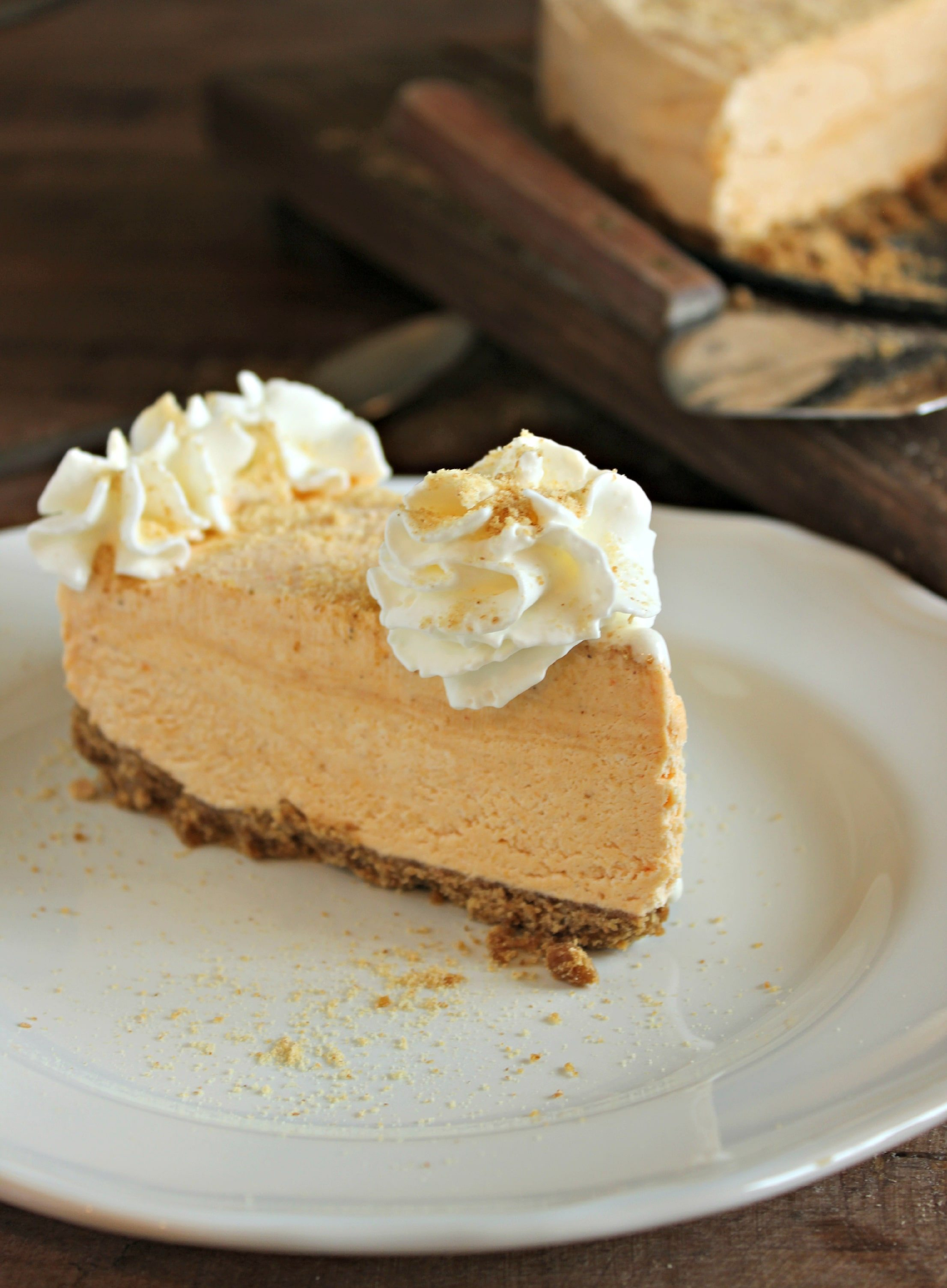 ... dessert. A creamy frozen cheesecake with a hint of pumpkin