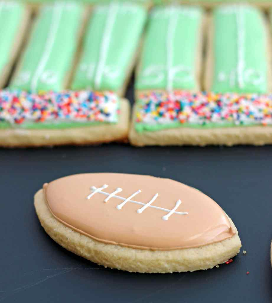 Football Sugar Cookie