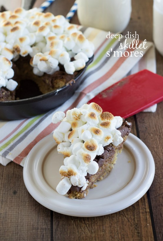 Easy and INCREDIBLE deep dish skillet s'mores