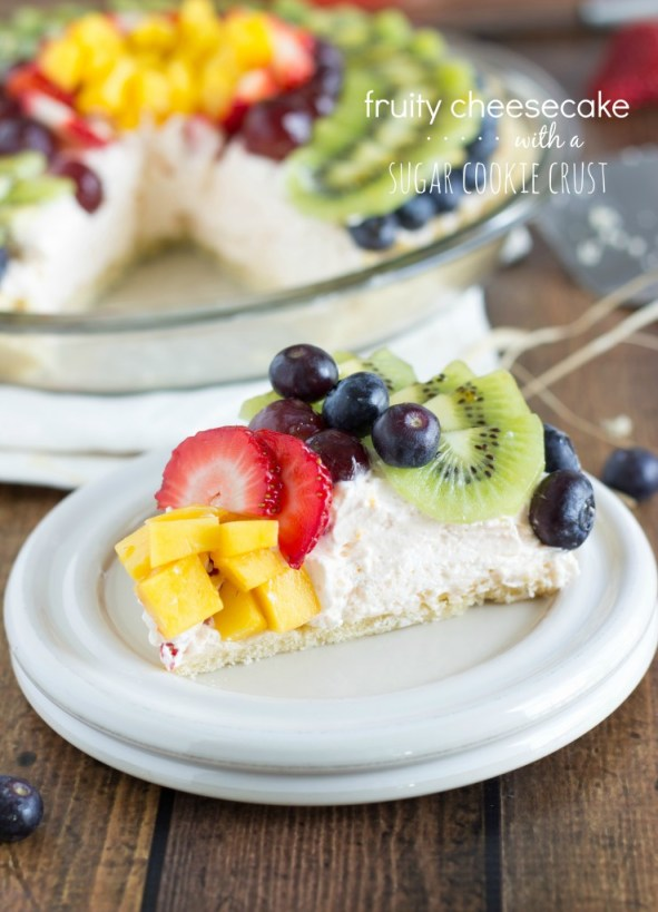 Fruity Cheesecake with a Sugar Cookie Crust