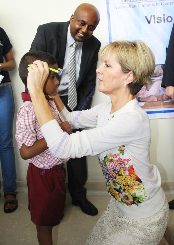 Australian Minister donated Specs Chennai