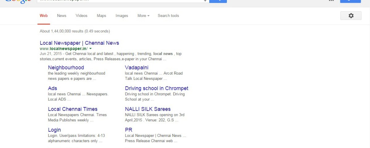 Local Newspapers Chennai