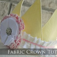 Fabric Crown {tutorial}