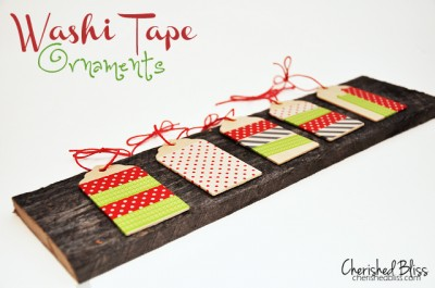 Washi Tape Ornaments via cherishedbliss.com