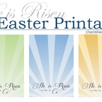 He is Risen - Easter Printable