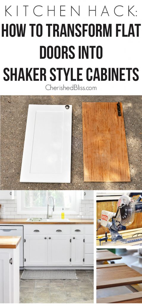 kitchen hack diy shaker style cabinets kitchen cabinet door styles With this Kitchen Hack you will be able to transform your flat doors into shaker style