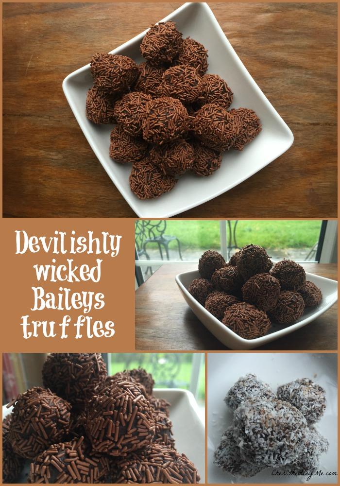 Devilishly wicked Baileys truffles