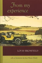 From My Experience by Louis Bromfield