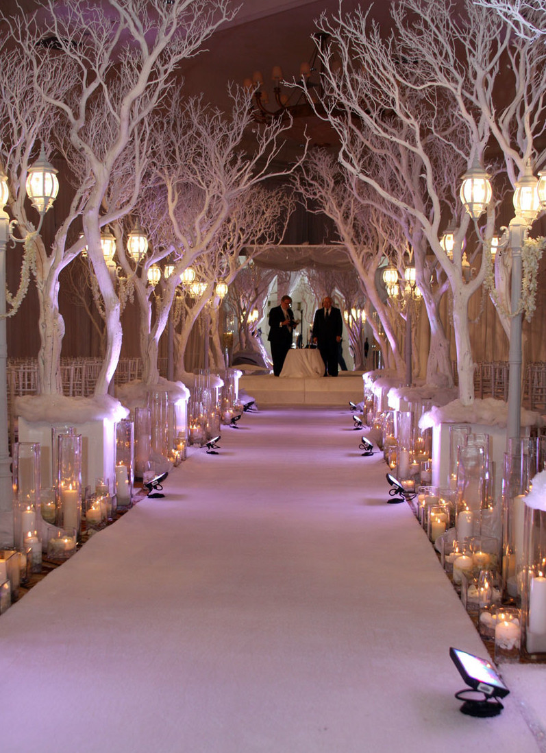 white christmas wedding ceremony decoration ideacherry