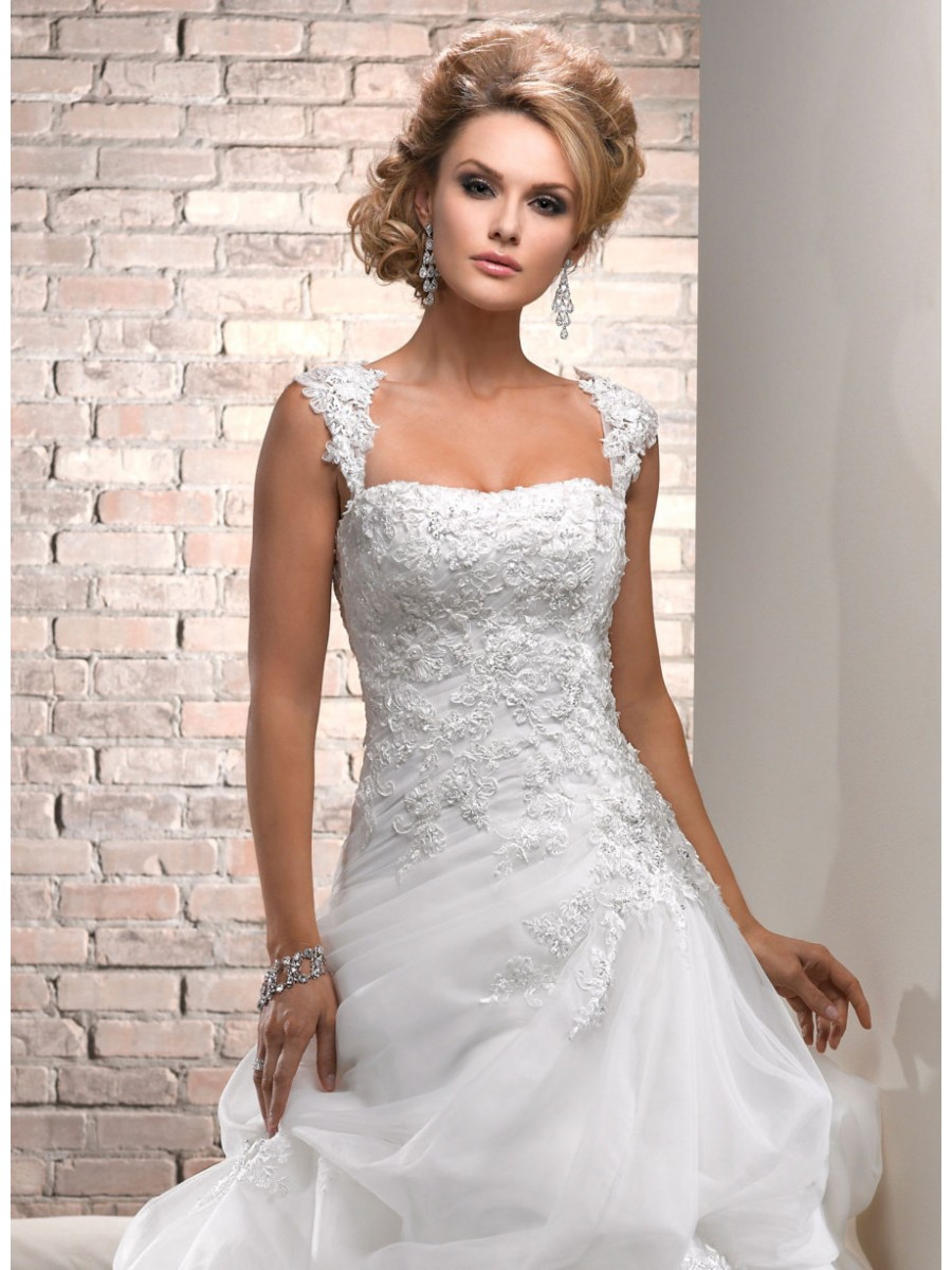 wedding dresses vintage lace capped sleeve wedding dress cap sleeves Vintage Wedding Dresses With Sleeves Lace Dress