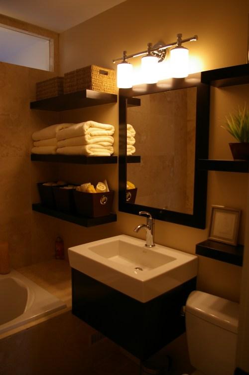 Medium Of Hanging Wall Shelves For Bathroom
