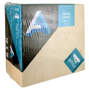 Art Alternatives Wood Panel Super Value Gallery 10x10 Pack of 4