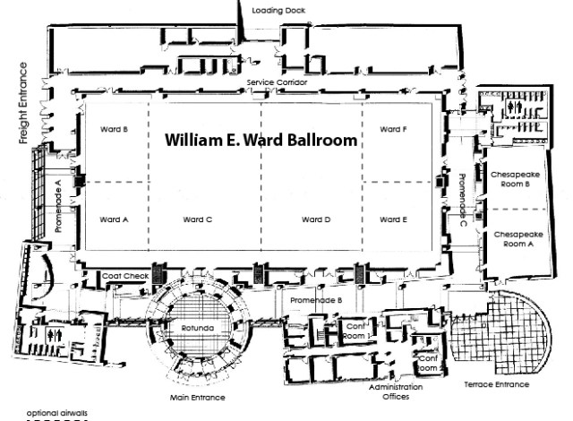 Chesapeake Conference Center Building Layout