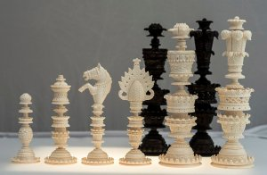 Mammoth Ivory Kashmir Chessmen