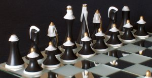 Bohemian Royal Dux Chess Set