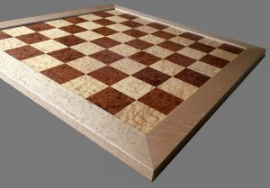 Amboyna Burl Signature Traditional Chessboard