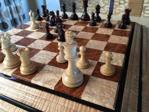 British Chess Company Bois de Rose Chessmen