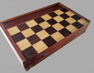 Antique Folding Chess Backgammon board