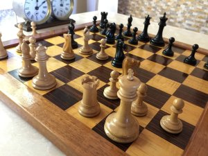 Antique Jaques Lasker Chessmen