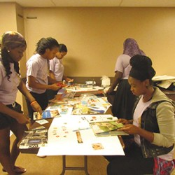 Girls in the program are asked to create vision boards that reflect their feelings and how they envision their futures.