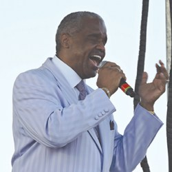 Russell Thompkins, Jr., the original lead singer of The Stylistics, lost none his lustre as he and the New Stylistics performed for more than an hour in DarbyTownship.