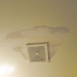 Water leaked from a second floor unit's bathroom and through Josephine Henry's ceiling above her toilet.