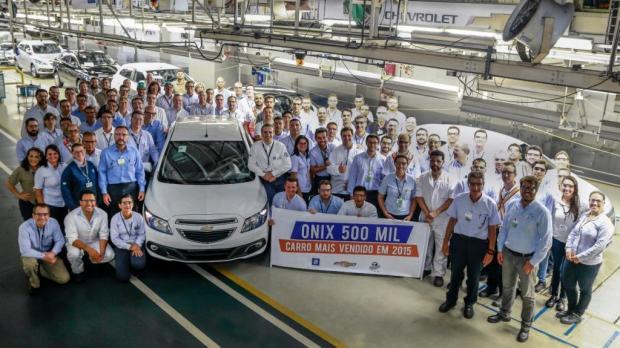 Fábrica da GM em Gravataí (RS) produziu, em março, o Onix de número 500 mil